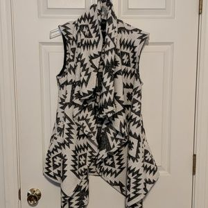 Aztec print vest